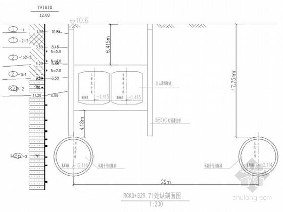 [江苏]地铁停车场出入场线明挖区间设计图32张