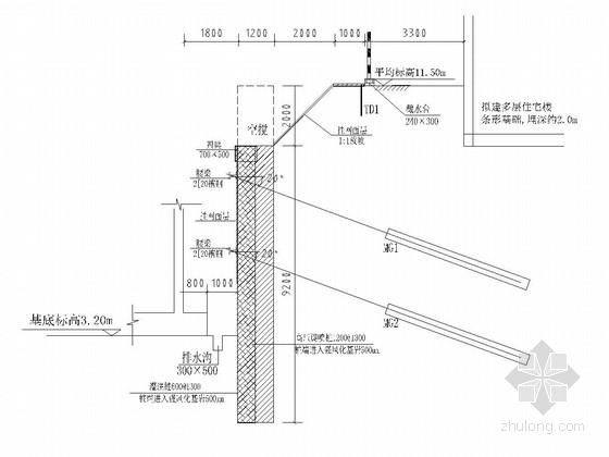 [山东]深基坑土钉墙及排桩支护施工图(附详勘)
