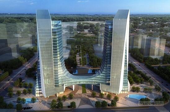 25层双塔带连廊商务办公楼幕墙施工图(节点图超详细)