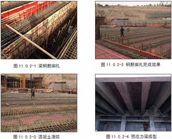 大跨度高大截面预应力梁梁底起拱支设模板施工工法
