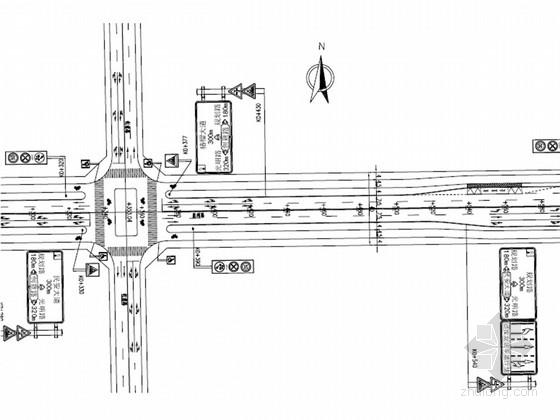 [安徽]城市主干路道路交通工程施工图设计35张