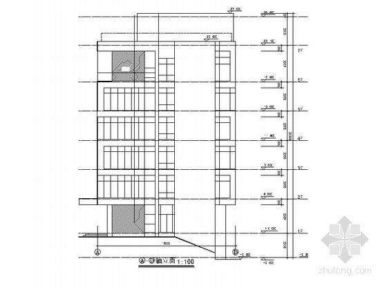 现代风格六层办公楼剖面图