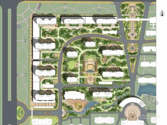 [山东]新古典主义居住区景观设计方案