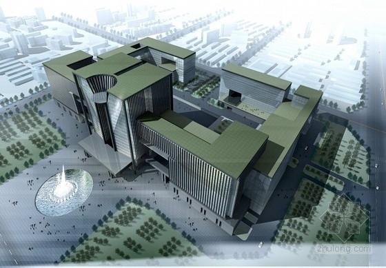 [河南]5A级智能化国际服务标准写字楼建筑设计方案文本