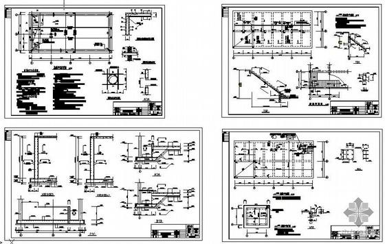 某室外消防水泵房结构图纸