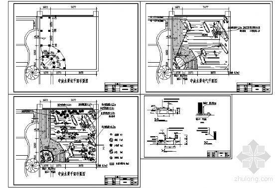 中庭水景详图-4