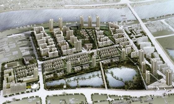 [湖北]现混合住宅区规划及单体设计方案文本