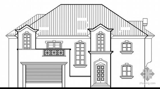 某美式二层别墅建筑施工图