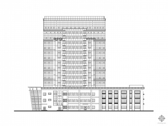 [南昌]某产品检测大楼外装饰幕墙建筑施工图