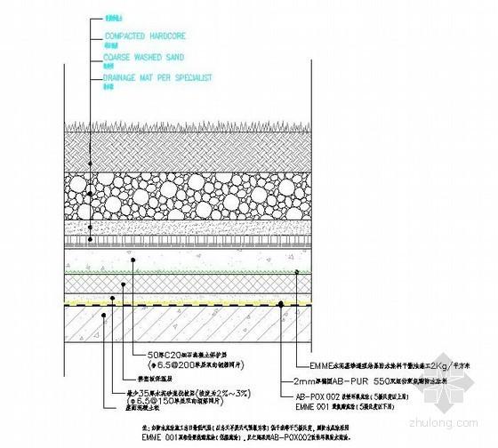 屋面种植区防水大样详图