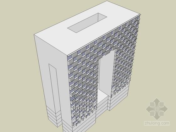 某市文化产业园区办公楼建筑方案图