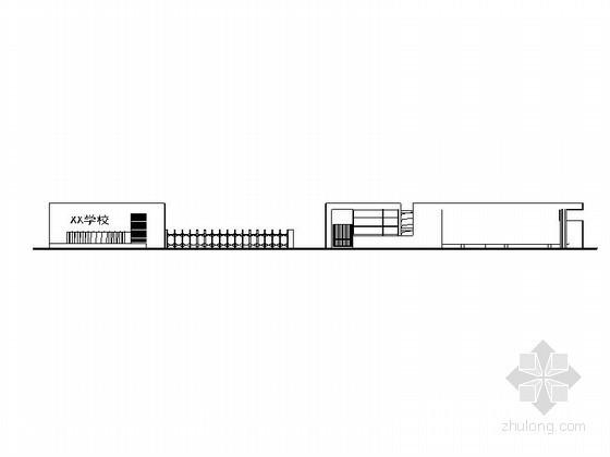 [重庆]某星光学校大门建筑初步图