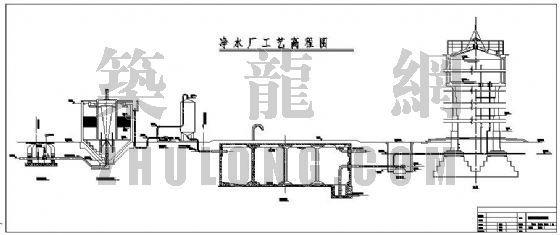 uasb工艺污水处理厂高程图资料下载-净水厂工艺平面及高程图