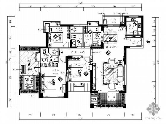 四室两厅方案设计(含效果)