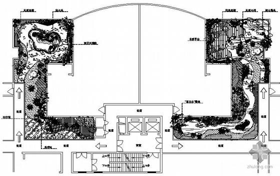 某别墅屋顶花园景观设计总平面