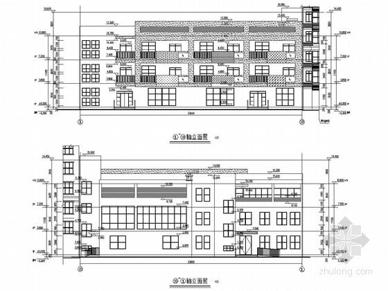 2000平四层框架结构社区幼儿园建筑结构施工图