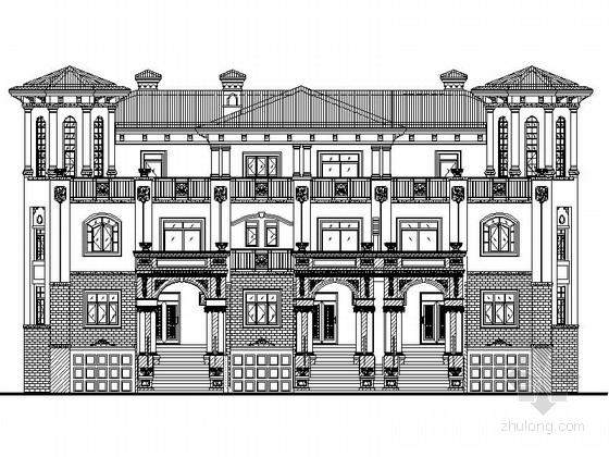 [四川]西班牙风格三平拼接独栋别墅设计方案图(知名建筑设计院)