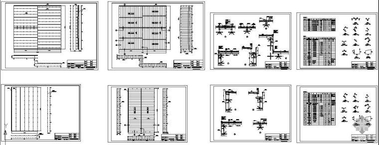 江西某医学院屋面板布置节点构造详图
