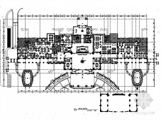[江苏]豪华七星级白金酒店室内装修CAD施工图(含效果)