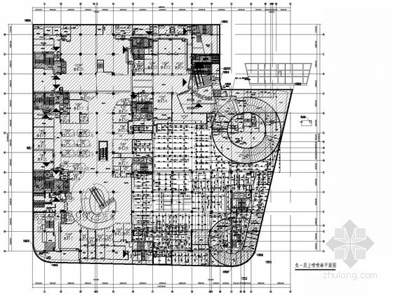 [广东]大型地下商场给排水施工图