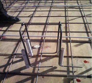 悬挑脚手架工字钢临时固定与预埋螺栓一次成型技术