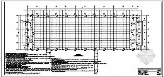 [中英]某门式刚架扩建厂房结构设计图