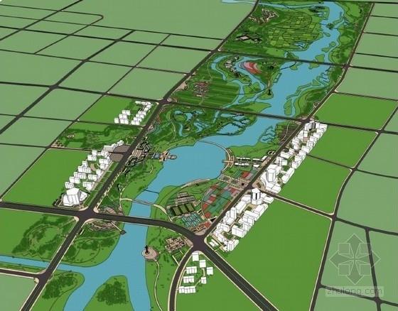 [南阳]城市滨水文化休闲走廊景观规划设计方案(包含指标和投资估算)