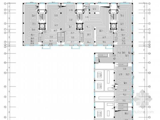 [辽宁]中高层住宅楼地热辐射采暖系统设计施工图