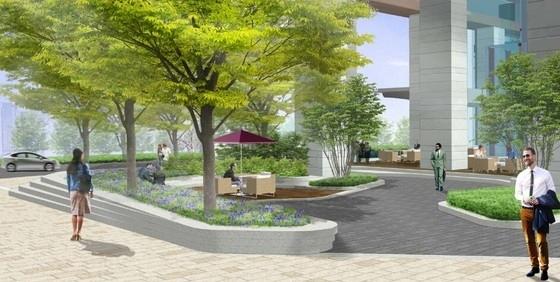 [深圳]绿色生态现代简约风格售楼中心景观概念设计(原创)-效果图二