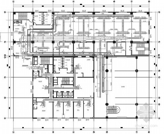 [成都]大型饭店综合楼中央空调设计施工图