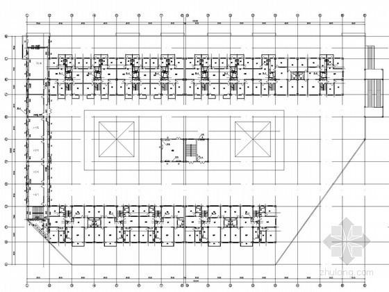 小型商业建筑散热器采暖系统设计施工图(含给排水系统)