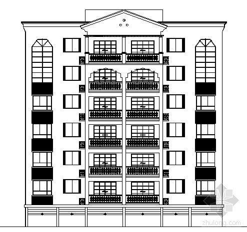 [南充]某六层别墅建筑方案图
