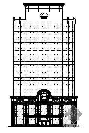 [湖北省]某技术研究与培训中心装饰改造项目外立面建筑装饰结构水暖施工图