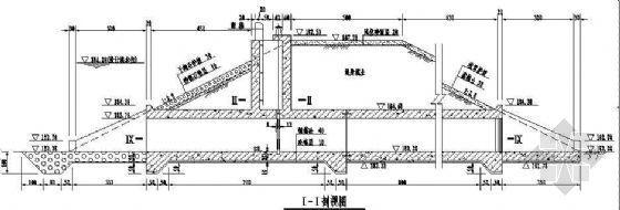 某堤防3孔穿堤防洪涵闸施工图