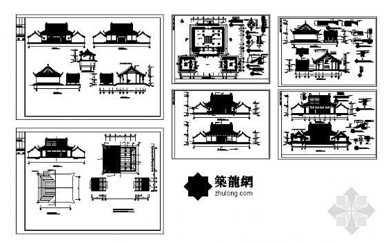 某财神殿建筑方案图-4