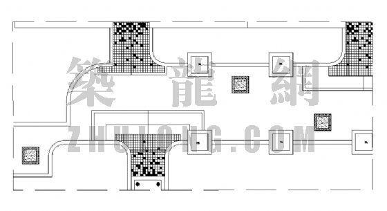 居住区铺装平面图(22)