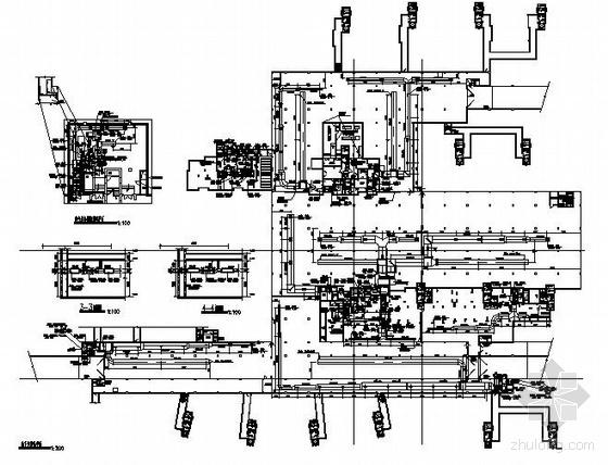 某地下汽车库通风兼防排烟平面图