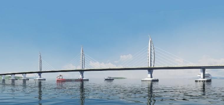 港珠澳大桥外海三塔斜拉桥施工创新工艺及关键技术-外海三塔斜拉桥