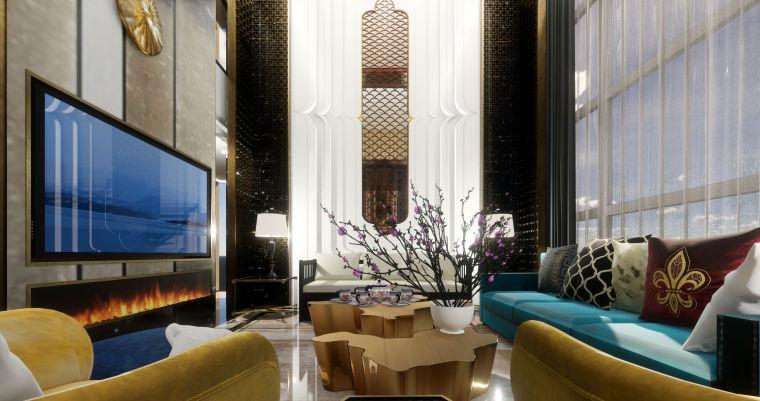 豪华loft室内设计客餐厅模型设计(2018年)-X 7