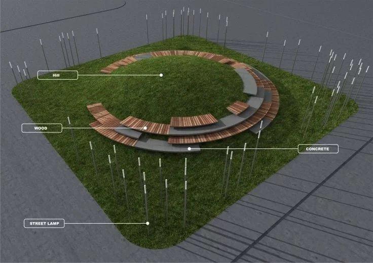 甲方要求的少花钱出好效果,有能力的景观设计师都做到了