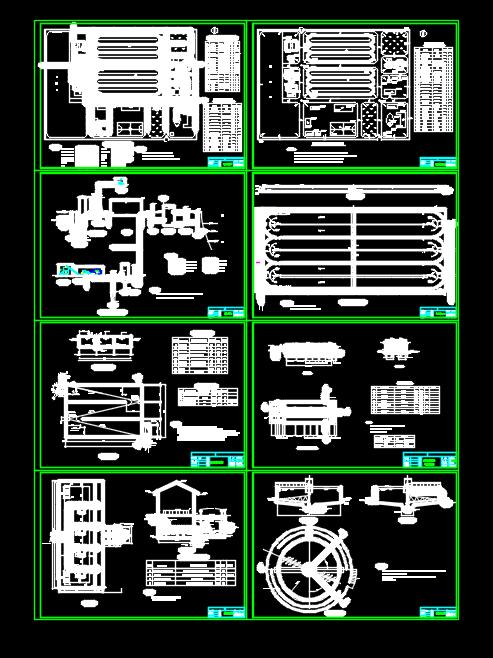 工厂框架结构污水处理厂氧化沟设计图
