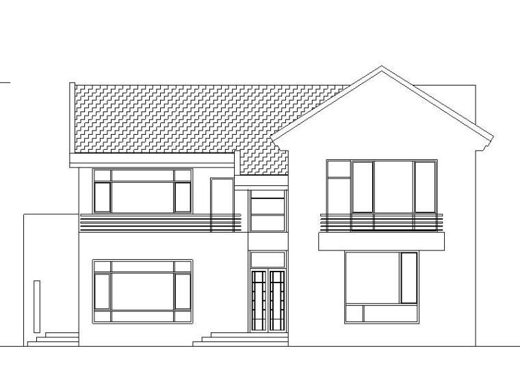 [广东]现代风格二层别墅建筑施工图设计