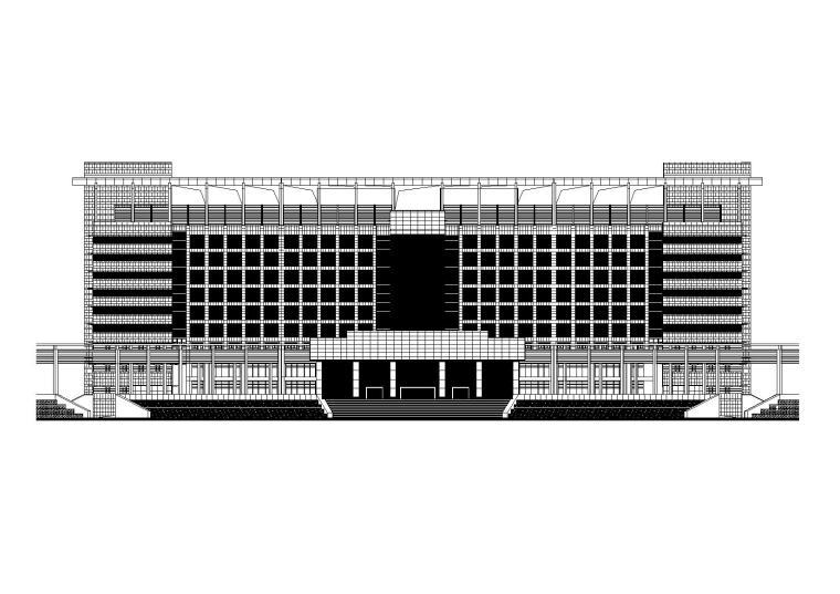 [湖北]某市级大型联排市民服务中心行政会议大楼(CAD+JPG)