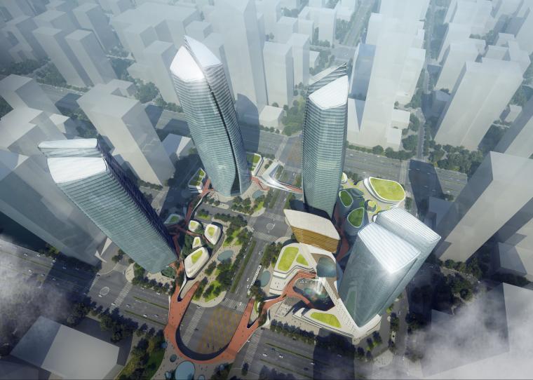 [江苏]苏州太湖新城核心区超高层山水城市商业综合体项目建筑设计方案文本(PDF)