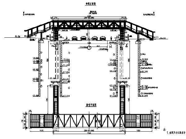 [湖南]钢桁架梁人行过街桥设计图31张