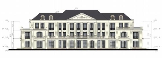 高层欧式古典风格住宅区规划立面图