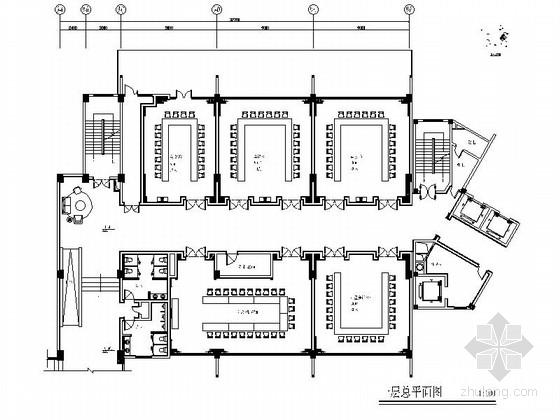 [成都]中式风格高端会议中心室内设计施工图(含效果图)