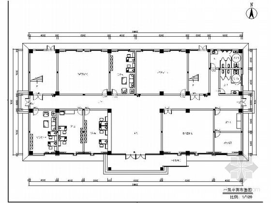 [浙江]超完整现代风格消防站室内装修设计施工图