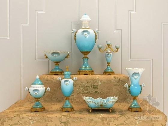 欧式花瓶摆件3D模型下载
