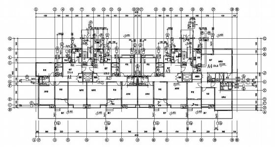 江苏某十二层住宅给排水设计图